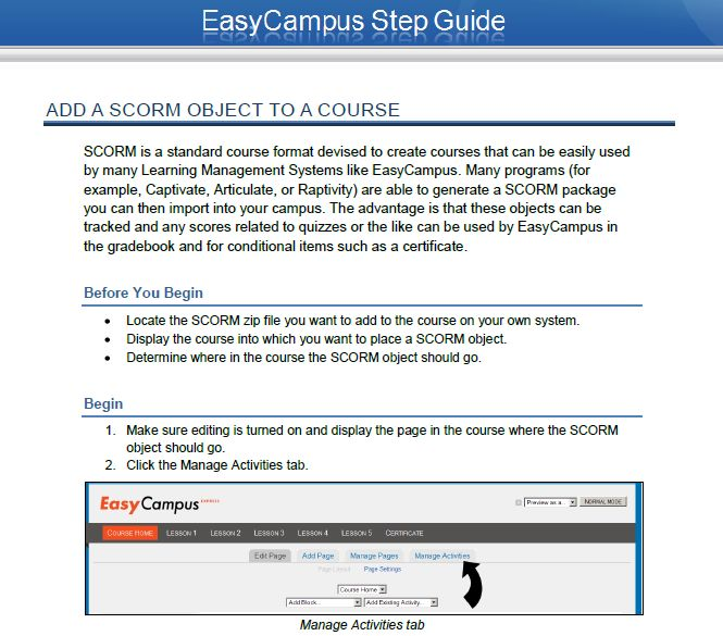 EasyCampus Step Guide
